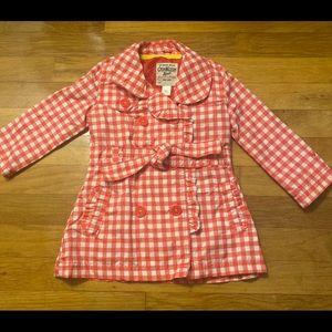 OshKosh B'gosh pink/white checked jacket - 2T